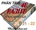 BÀI VIẾT VÀ AUDIO: PHÂN TÍCH HADITH SỐ 20 - 21 VÀ 22 CỦA 40 HADITH NAWAWIYAH