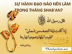 SỰ HÀNH ĐẠO NÀO NÊN LÀM TRONG THÁNG SHABA'AN (THÁNG 8 HIDRI)?