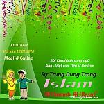 """BÀI THUYẾT GIẢNG SONG NGỮ ANH - VIỆT: """"SỰ TRUNG DUNG TRONG ISLAM"""""""