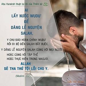 LẤY NƯƠC WUDU ĐỂ DÂNG LỄ SALAH
