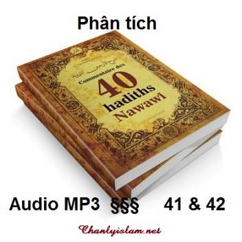 BÀI VIẾT VÀ AUDIO: PHÂN TÍCH HAI HADITH CUỐI CÙNG 41 VÀ 42 CỦA 40 HADITH NAWAWIYAH