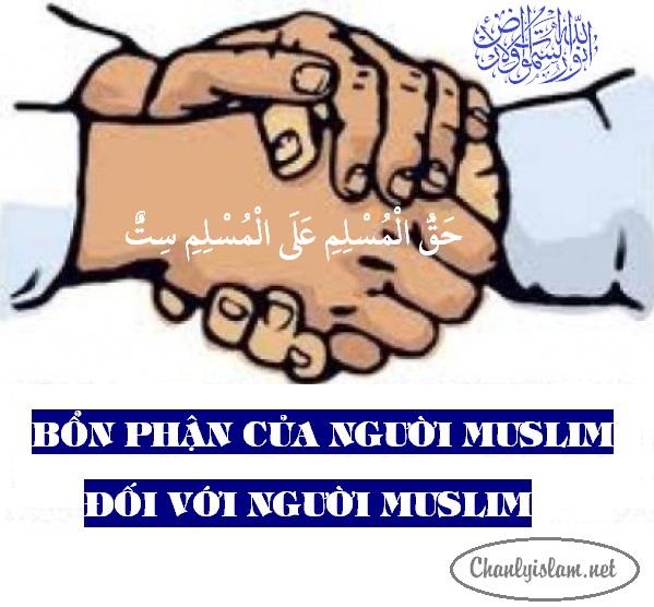 BỔN PHẬN CỦA NGƯỜI MUSLIM ĐỐI VỚI NGƯỜI MUSLIM
