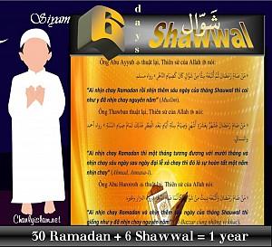 NHỊN CHAY 6 NGAY THANG SHAWWAL
