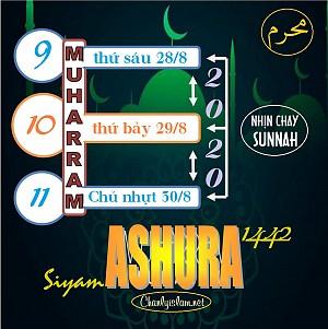 BA CACH THUC NHIN CHAY SUNNAH NGAY ASHURA THANG MUHARRAM 1442
